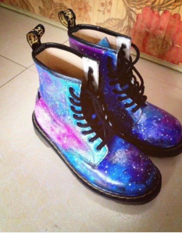shoes galaxy print DrMartens