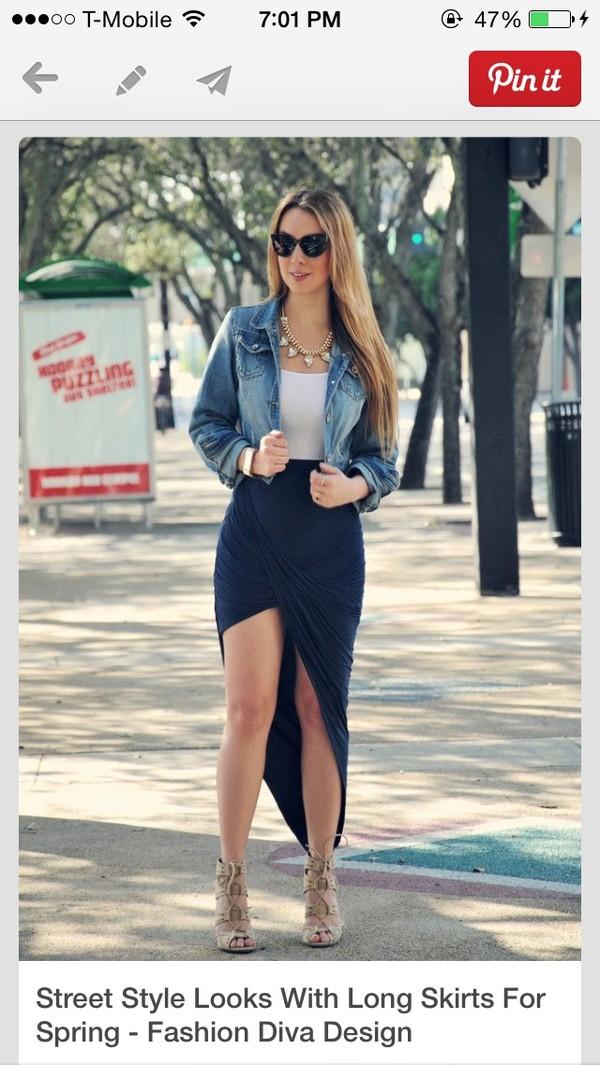 skirt split skirt