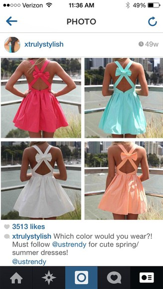dress orange dress summer dress bow dress cute dresses pastel pink dress white dress blue dress