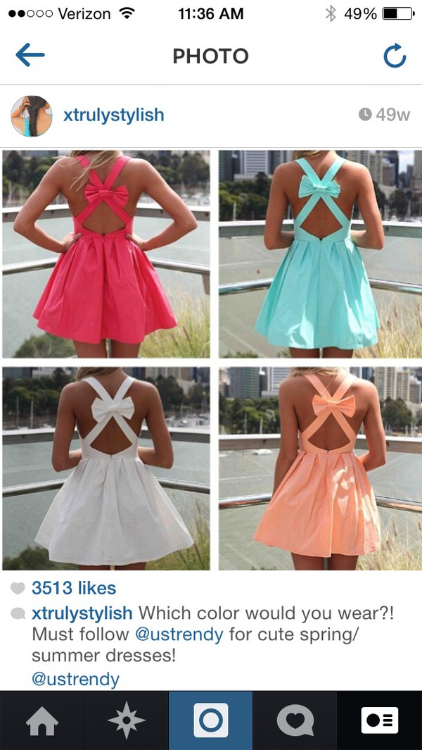 bow dress cute dress pastel summer dress dress orange dress pink dress white dress blue dress