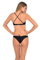 underwear,bikini,bikini bottoms,black,luli fama,drawstring,scrunch,bikiniluxe,swimwear