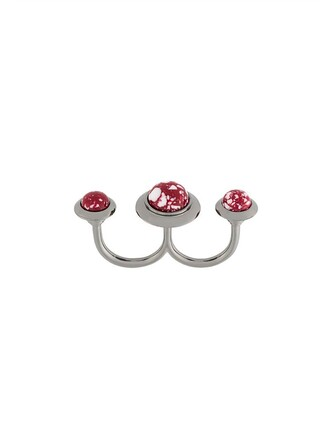 women ring red jewels