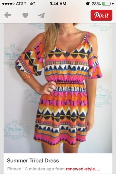 colorful patterns dress tribal pattern cut outs