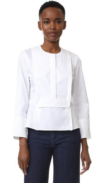 blouse long white top
