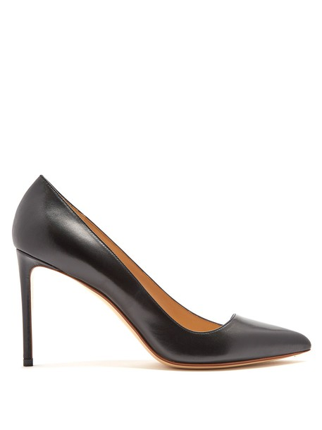 Francesco Russo pumps leather black shoes