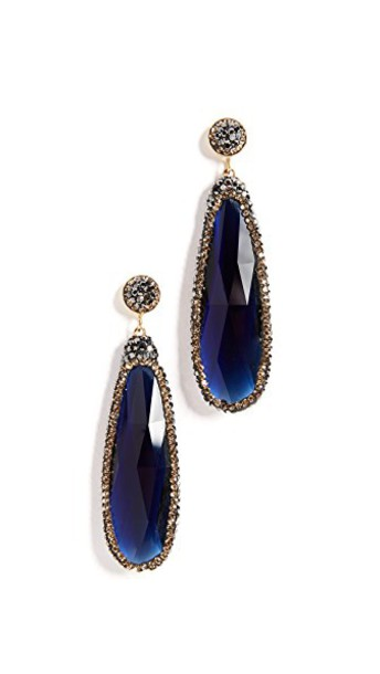 Native Gem earrings blue jewels