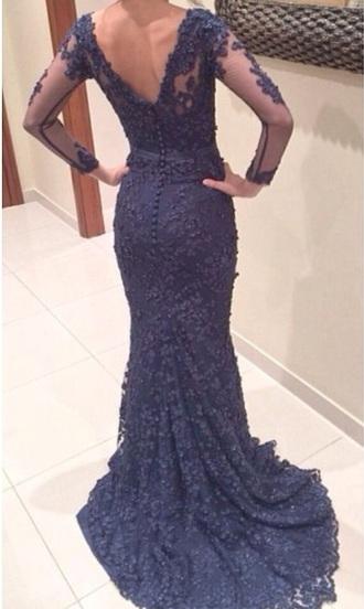 dress prom lace lace dress navy blue dress navy prom dress