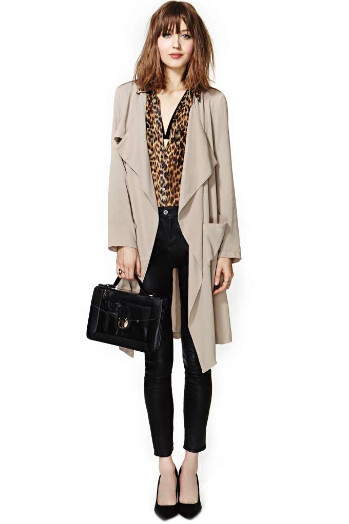 Rain or Shine Draped Jacket at Nasty Gal