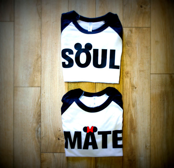 Soul Mate couples Disney American Apparel shirts sadie's dance just engaged just married gift honeymoon