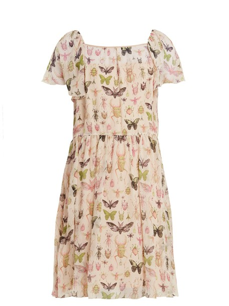 REDValentino dress chiffon dress chiffon ruffle print silk cream
