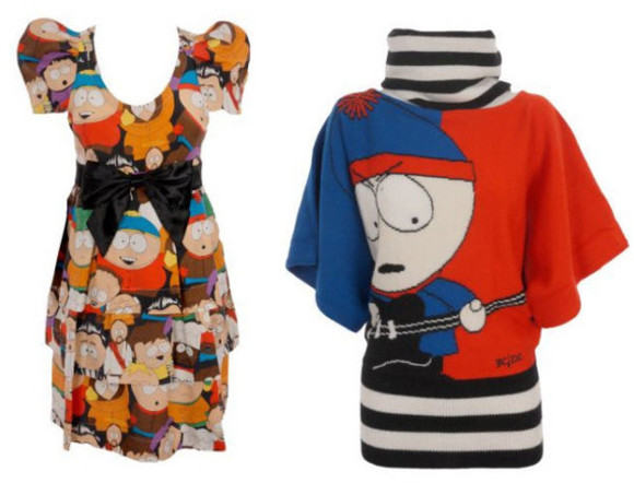 bow dress sweater stan marsh cartman south park retro sweatshirt