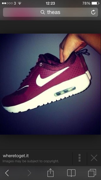 shoes wine nike theas