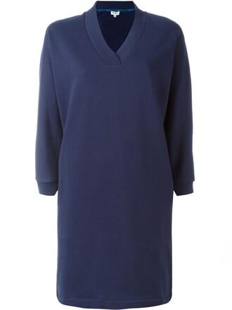 dress sweatshirt dress paris print blue