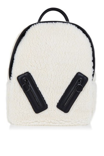 Topshop backpack cream bag