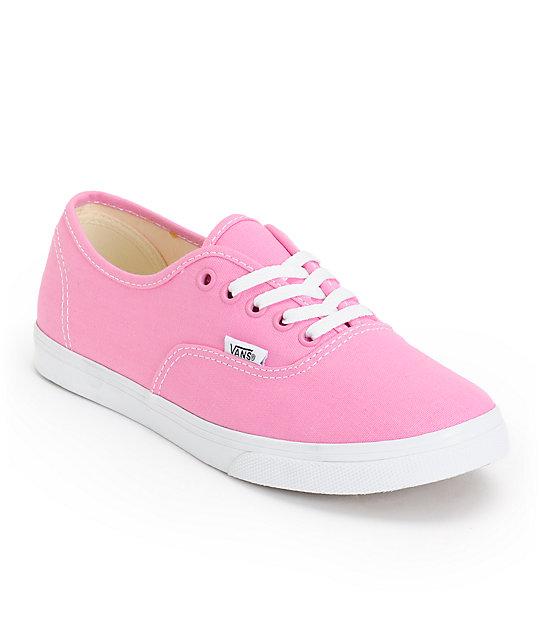 Vans girls authentic lo pro rosebloom pink & true white shoe