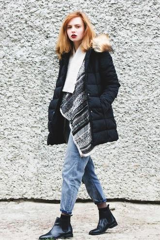 kristina magdalina blogger coat cardigan jeans shoes