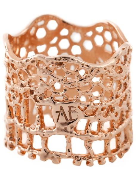 AURELIE BIDERMANN vintage metallic women ring lace jewels