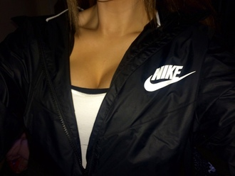 coat nike black tumblr jacket nike windbreaker summer streetwear stussy windbreaker black jacket brand style nike jacket nike sweater nike brand fashion style me