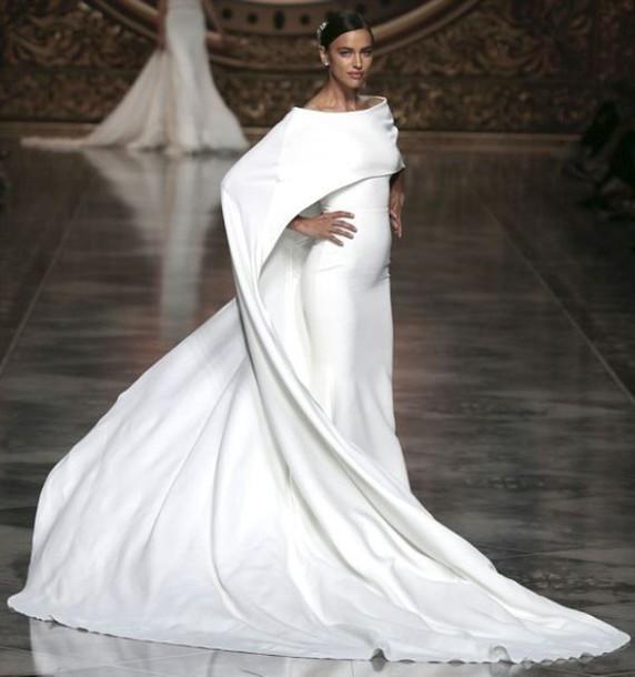 dress, gown, white, white dress, prom dress, wedding dress, irina ...