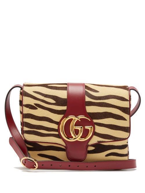 Gucci - Arli Tiger Print Calf Hair Leather Cross Body Bag - Womens - Multi
