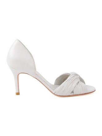 open women pumps white shoes