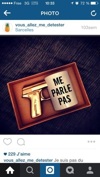 home accessory mug gun dope dope accessory funny french