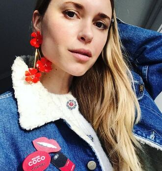 jewels flowers pernille teisbaek instagram jacket blogger earrings