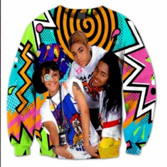 crewneck tlc colorful