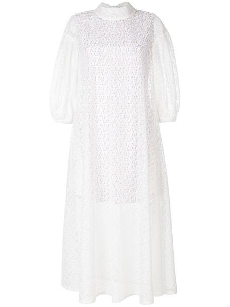 dress women layered white cotton