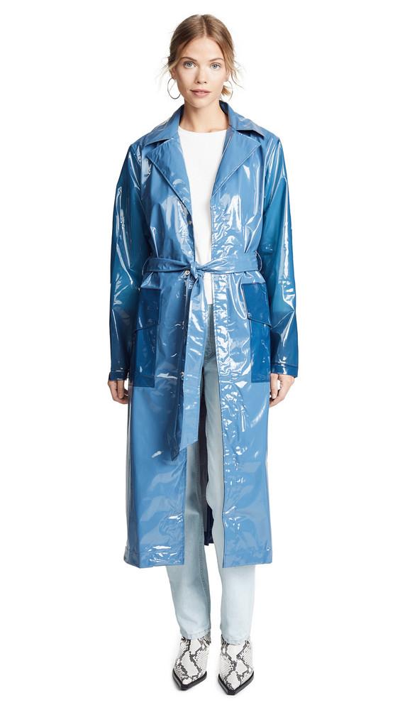 Rains Ltd. Long Overcoat in blue