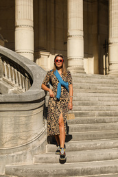 angystearoom,blogger,shoes,dress,bag,sweater,leopard dress