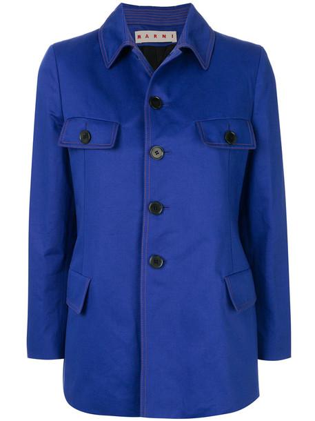 MARNI jacket women cotton blue