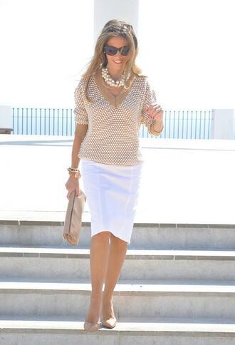 sweater jumper classy girls wear pearls classy brown jumper v neck italian design project runway beautiful hot pencil skirt