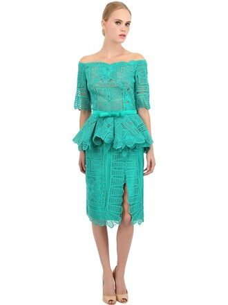 dress lace dress lace cotton green