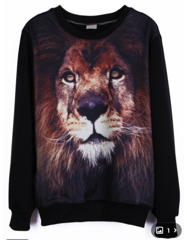 sweater sweatshirt oversized sweater lion