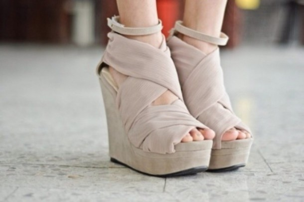 shoes beige nude wedge wedges beige shoes high heels
