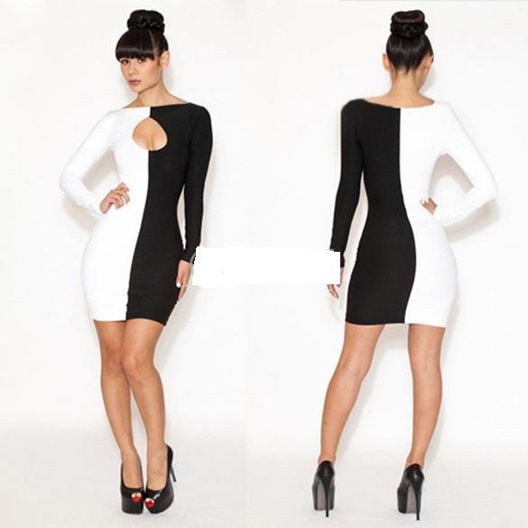Black/white keyhole bodycon dress · summah breeeze · online store powered by storenvy