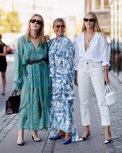 dress,maxi dress,floral dress,ruffle,sunglasses,handbag,earrings