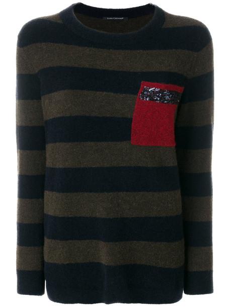 Luisa Cerano jumper women spandex wool brown sweater