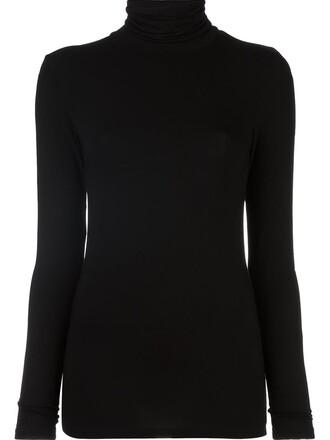 blouse women spandex black top