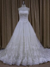 dress,prom,prom dress,wedding,wedding dress,love,lovely,pretty,gown,ball gown dress,ball,white,white dress,wedding clothes,bride,fabulous,gorgeous,beautiful,vogue,wow,cool,fashion,amazing,sweet,chic,sweetheart dress,strapless,strapless dress,long,long dress,special occasion dress,floor length dress,fashionista,fashion vibe,lace,lace dress,cute,cute dress,sexy,sexy dress,dressofgirl,princess wedding dresses