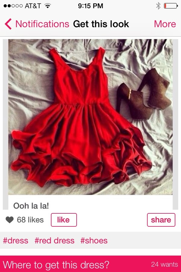 dress red dress rose petal shoes short