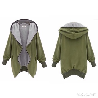coat army green jacket zip grey coat