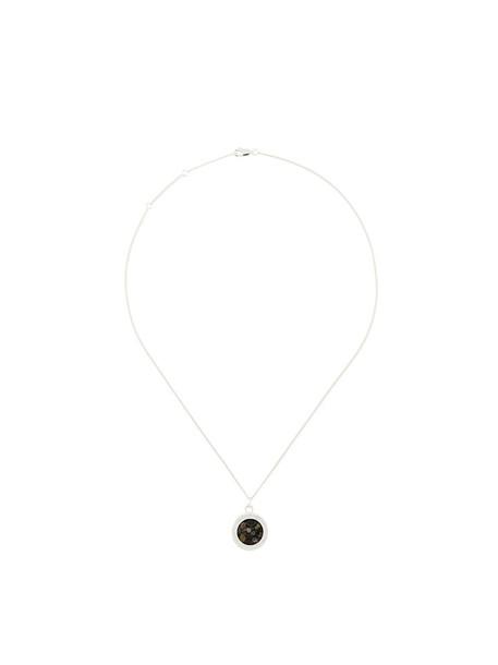 rachel jackson women birthstone necklace silver grey metallic jewels