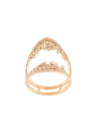 open women ring purple pink jewels