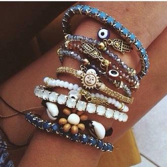 jewels bracelets beach stacked bracelets