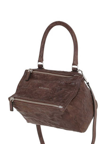 GIVENCHY Small Pandora Washed Leather Bag in brown