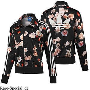8e7ae98e72b Adidas Originals Firebird Track Top TT Roses Flowers Print F78292 Women's  Jacket