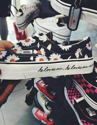 shoes vans flowers