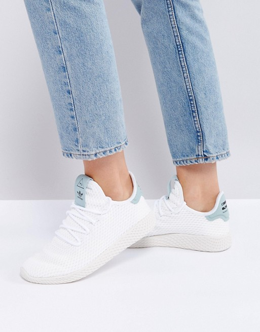 6d5c5f0ddf88c adidas Originals X Pharrell Williams Tennis HU Trainers In White at ...